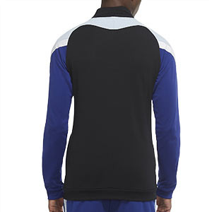 Chaqueta Nike Dry Academy - Chaqueta de chándal de fútbol Nike - negra y azul - trasera