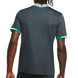 Camiseta Nike 2a Nigeria 2020 2021 Stadium - Camiseta segunda equipación Nike selección de Nigeria 2020 2021 - verde oscuro - trasera