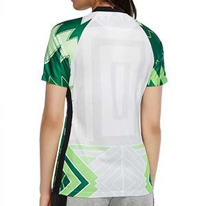 Camiseta Nike Nigeria mujer 2020 2021 Stadium - Camiseta mujer primera equipación selección Nigeria 2020 2021 - blanca y verde - trasera