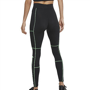 Mallas Nike mujer Sportswear Swoosh - Mallas largas de talle alto Nike para mujer Nike - negras - trasera