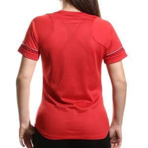 Camiseta Nike Dri-Fit Academy 21 mujer - Camiseta de maga corta de mujer para entrenamiento fútbol Nike - roja - trasera
