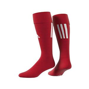 Medias adidas Santos 18 - Medias de fútbol adidas - rojas - trasera