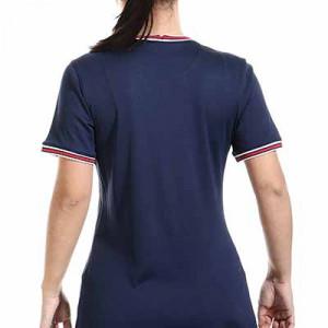 Camiseta Nike PSG x Jordan 2021 2022 mujer Dri-Fit Stadium - Camiseta primera equipación de mujer Nike x Jordan del París Saint-Germain 2021 2022 - azul marino - hover trasera