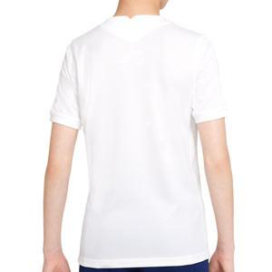 Camiseta Nike Tottenham 2021 2022 niño Dri-Fit Stadium - Camiseta infantil primera equipación Nike del Tottenham Hotspur 2021 2022 - blanca - trasera