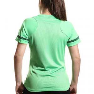 Camiseta Nike Dri-Fit Academy 21 mujer - Camiseta de maga corta de mujer para entrenamiento fútbol Nike - verde - hover trasera