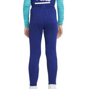 Pantalón Nike Barcelona entreno niño 2021 Strike - Pantalón largo entrenamiento infantil Nike FC Barcelona 2021 - azul marino - trasera