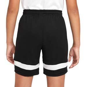 Short Nike Dri-Fit Academy 21 niño - Pantalón corto de entrenamiento de fútbol infantil Nike - negro - trasera