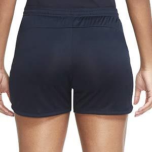 Short Nike PSG mujer entreno 2020 2021 Academy - Pantalón corto de entrenamiento de mujer del Paris Saint-Germain 2020 2021 - azul marino - trasera