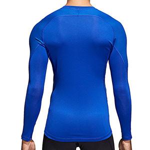 Camiseta compresiva M/L adidas Alphaskin - Camiseta entrenamiento compresiva manga larga adidas Alphaskin - Azul - trasera