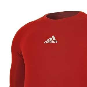 Camiseta compresiva M/L adidas Alphaskin - Camiseta entrenamiento compresiva manga larga adidas Alphaskin - Rojo - detalle