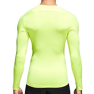 Camiseta compresiva M/L adidas Alphaskin - Camiseta entrenamiento compresiva manga larga adidas Alphaskin - Amarillo - trasera