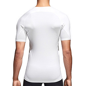 Camiseta compresiva adidas Alphaskin - Camiseta entrenamiento compresiva adidas Alphaskin - Blanco - trasera