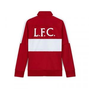 Chaqueta Nike Liverpool I96 himno 2020 2021 - Chaqueta chándal del himno Nike Liverpool FC 2020 2021 - roja y blanca - trasera