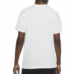 Camiseta algodón Nike Futura - Camiseta de algodón de calle Nike - blanca - trasera