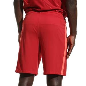 Short Nike Liverpool 2021 2022 Dri-Fit Stadium - Pantalón corto primera equipación Nike del Liverpool FC 2021 2022 - rojo - trasera