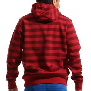 Sudadera Nike Liverpool Sportswear Club Hoodie - Sudadera con capucha de algodón Nike del Liverpool FC - roja - trasera