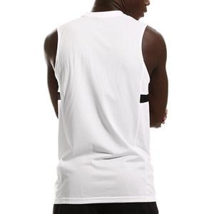 Camiseta tirantes Nike Dri-Fit Academy 21 - Camiseta sin mangas de entrenamiento de fútbol Nike - blanca - trasera