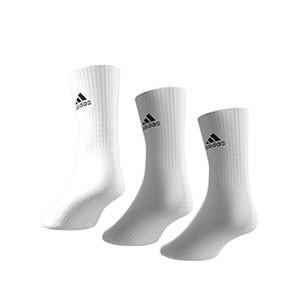 Calcetines media caña adidas Cush Crew 3 pp - Pack 3 calcetines de media caña adidas - blancos - trasera