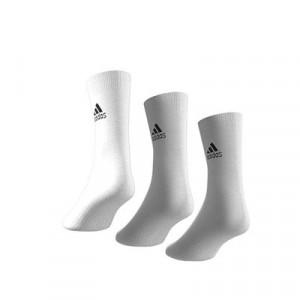 Calcetines adidas 3 pares finos - Pack 3 calcetines de media caña adidas - blancos - trasera