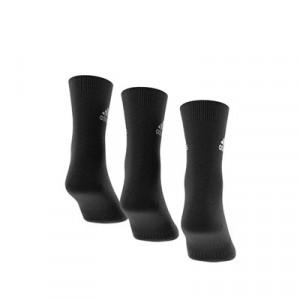 Calcetines adidas 3 pares finos - Pack 3 calcetines de media caña adidas - negros - trasera