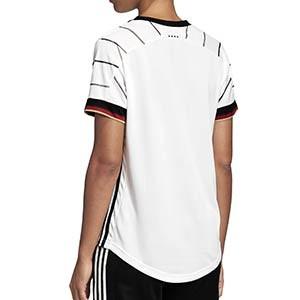 Camiseta adidas Alemania mujer 2020 2021 - Camiseta mujer primera equipación selección alemana 2020 2021 - blanca - trasera