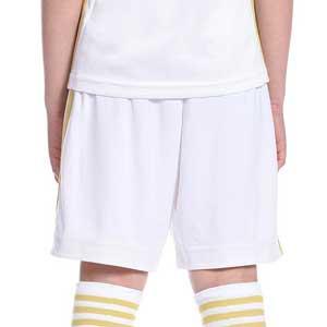 Short adidas Juventus niño 2020 2021 - Pantalón corto infantil primera equipación Juventus 2020 2021 - blanco - trasera