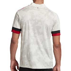 Camiseta adidas 2a Bélgica 2020 2021 - Camiseta segunda equipación selección de Bélgica 2020 2021 - blanca - trasera