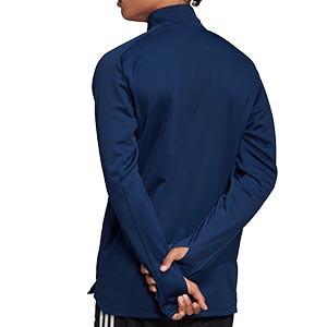 Sudaera adidas Condivo 20 Warm - Sudadera de entrenamiento adidas térmica - azul marino - traseraº