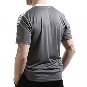 Camiseta adidas Olympique Lyon entrenamiento - Camiseta manga corta entrenamiento adidas Olympique de Lyon - gris - hover trasera