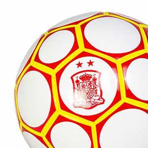 Balón Joma Comité Nacional Fútbol Sala España talla 62 cm - Balón de fútbol sala Joma del CNFS de España 2020 2021 - blanco y rojo - detalle