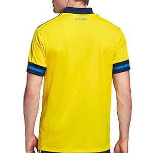 Camiseta adidas Suecia 2019 2020 - Camiseta primera equipación selección sueca 2019 2020 - amarilla - trasera
