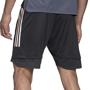 Short adidas Alemania entreno 2020 2021 - Pantalón corto de entrenamiento selección alemana 2020 2021 - gris - trasera