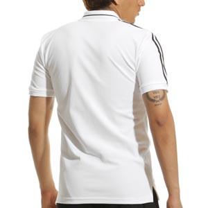 Polo adidas Alemania 3S - Polo de algodón adidas de la selección alemana - blanco - trasera