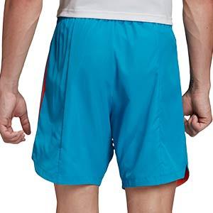 Short adidas Condivo 20 Primeblue - Pantalón corto de entrenamiento de fútbol adidas - azul - trasera