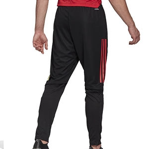 Pantalón adidas Bélgica entreno 2020 2021 - Pantalón largo de entrenamiento selección belga 2020 2021 - negro - trasera
