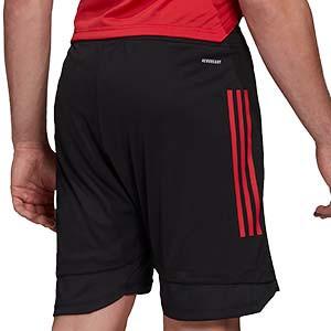 Short adidas Bélgica entreno 2020 2021 - Pantalón corto de entrenamiento selección belga 2020 2021 - negro - trasera