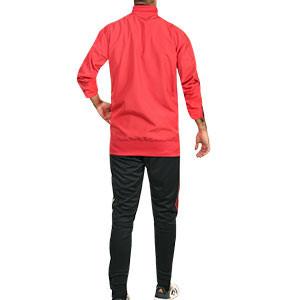 Chándal adidas Bélgica 2020 2021 Presentación - Conjunto de chándal de paseo adidas de la selección belga 2020 2021 - rojo y negro - trasera