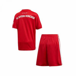 Equipación adidas niño pequeño Bayern 2020 2021 - Conjunto infantil 1-6 años primera equipación adidas Bayern de Munich 2020 2021 - rojo - trasera