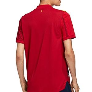 Camiseta adidas España 2019 2020 authentic - Camiseta auténtica primera equipación selección española 2019 2020 - roja - trasera