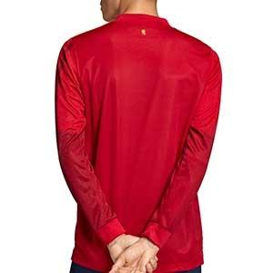 Camiseta manga larga adidas España 2019 2020 - Camiseta de manga larga de la primera equipación selección española 2019 2020 - roja - trasera
