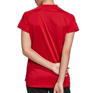 Camiseta adidas Condivo 20 mujer - Camiseta de mujer de entrenamiento de fútbol adidas - roja - trasera