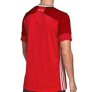 Camiseta adidas Hungria 2019 2020 - Camiseta primera equipación selección húngara 2019 2020 - roja - trasera