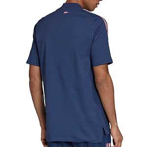 Camiseta algodón adidas Arsenal - Camiseta de algodón adidas del Arsenal FC 2020 2021 - azul marino - trasera