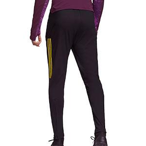 Pantalón adidas United entreno UCL 2020 2021 - Pantalón largo entrenamiento Champions League adidas Manchester United 2020 2021 - negro - trasera