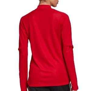 Sudadera adidas Condivo 20 mujer - Sudadera de entrenamiento de fútbol para mujer adidas - roja - trasera
