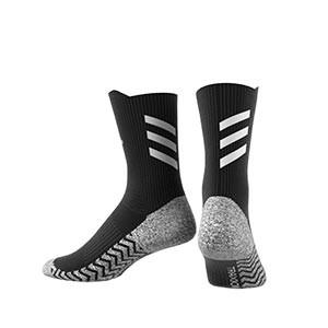 Calcetines adidas Alphaskin Traxion ultra finos - Calcetines de entrenamiento adidas media caña con tecnología antideslizante - negros - trasera