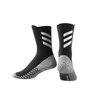 Calcetines adidas Alphaskin Traxion semi acolchados - Calcetines de entrenamiento adidas media caña con tecnología antideslizante - negros - trasera