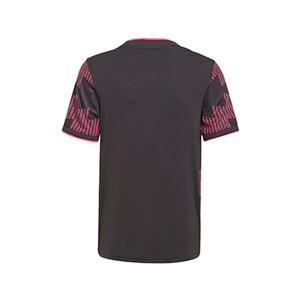 Camiseta adidas México niño 2021 - Camiseta infantil primera equipación adidas selección mexicana 2021 - negra - trasera