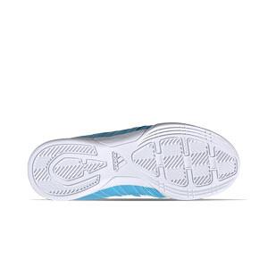 adidas Super Sala J - Zapatillas de fútbol sala para niño adidas suela lisa - azul celeste - suela
