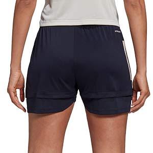 Short adidas Juventus entreno mujer 2020 2021 - Pantalón corto de entrenamiento de mujer de la Juventus 2020 2021 - azul marino - trasera
